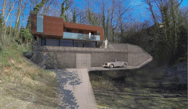 Projet Priv De Maison En Mtal Sur Un Terrain Compliqu Et Trs Pentu Sur Le  Site Du0027une Ancienne Carrire Le Projet Est Abord Directement En 3d Pour